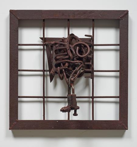 Beyond Cabo Verde (2006) Welded steel 19.75h x 19.75w x 6.75d in (50.17h x 50.17w x 17.15d cm)