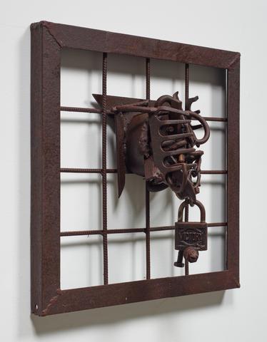 Beyond Cabo Verde (2006) Welded steel 19.75h x 19.75w x 6.75d in (50.2h x 50.2w x 17.1d cm)