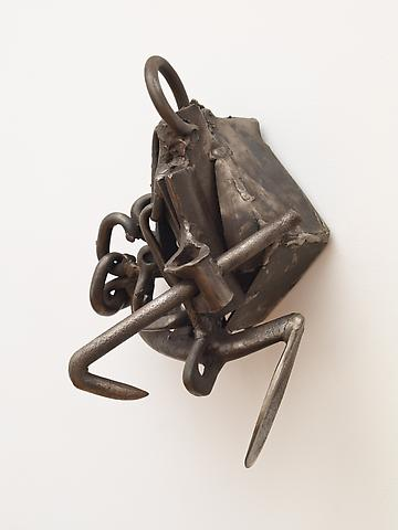 "By Hand (1992) From the series Lynch Fragments Welded steel 10"" x 8"" x 6"""