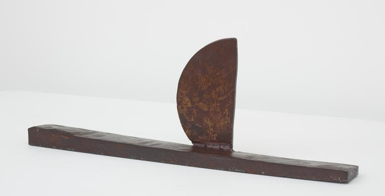 Cayuga (c. 1969-70) Welded steel 5.75h x 16.25w x 2d in (14.6h x 41.3w x 5.1d cm)