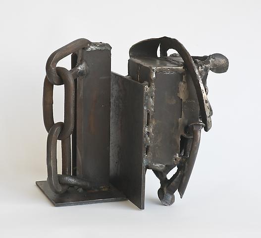 Combination (2005) Welded steel 11h x 8w x 10d in (27.94h x 20.32w x 25.4d cm)