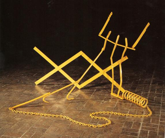 Conversations with My Father (1974) Painted welded steel 47.5h x 53w x 57d in (120.7h x 134.6w x 144.8d cm)