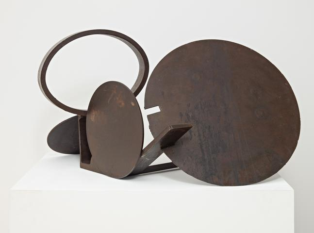 E.C.'s View (1979) Welded steel 21h x 40w x 27d in (53.34h x 101.6w x 68.58d cm)