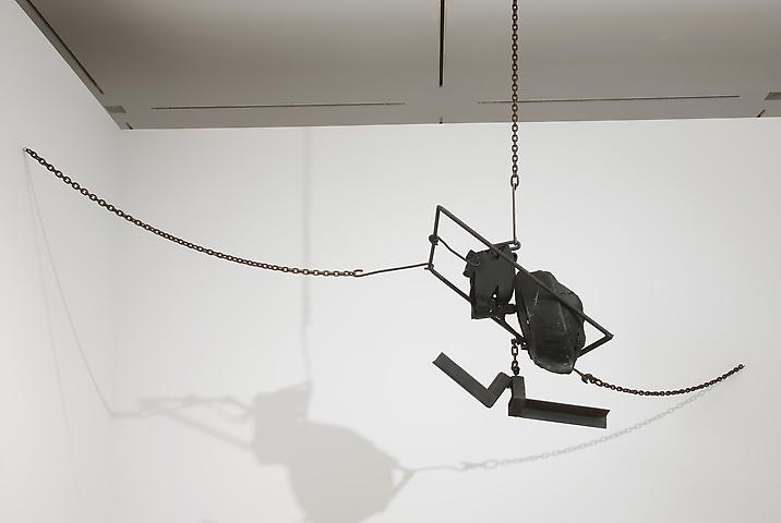 Melvin Edwards; Now Dig This! Art and Black Los Angeles 1960-1980 (2011) Cotton Hangup (1966); Installation view; The Hammer Museum