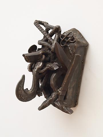 """Ibadan Oke (1992) From the series Lynch Fragments Welded steel 13.5"""" x 11"""" x 8"""""""
