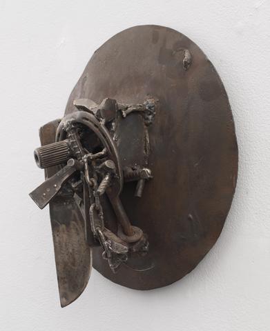 Kasangadila: For Francisco Romão de Oliveira e Silva (2004)<br>Welded steel<br>15h x 15w x 6.75d in (38.1h x 38.1w x 17.15d cm)