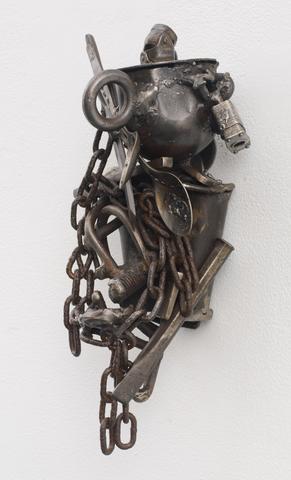 Lo (For Locardia Ndandarika) (1997) Welded steel 13.75h x 9.25w x 6.88d in (34.92h x 23.5w x 17.48d cm)