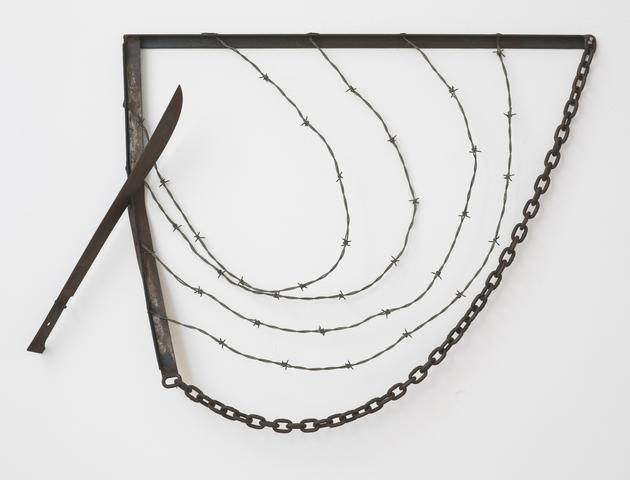 Machete for Gregory (1974) Welded steel, 31h x 40w in (78.74h x 101.6w cm) Collection Dallas Museum of Art, Dallas, TX