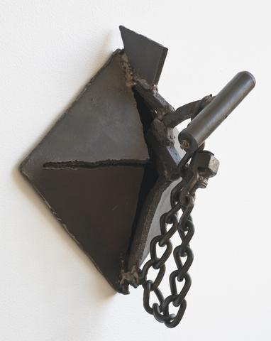Nam (1973) Welded steel 15h x 15w x 7.5d in (38.1h x 38.1w x 19.05d cm) Collection of the Memorial Art Gallery, University of Rochester, NY