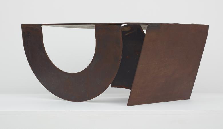 Plainfield No.1 (1976) Steel 11h x 27.5w x 17.5d in (27.9h x 69.9w x 44.5d cm)