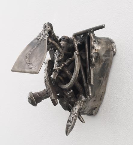 Poetry (2012)<br>Welded steel<br>10.5h x 7.75w x 9.75d in (26.67h x 19.68w x 24.77d cm)