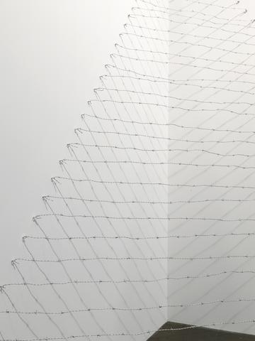 Art 43 Basel, Art Unlimited 2012 Pyramid Up and Down Pyramid (1969/2012), detail Barbed wire, dimensions variable