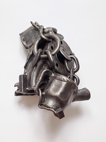 Melvin Edwards, Road to Goma, 1993-1994 Welded steel 12 x 15.5 x 8 in (30.48h x 39.37w x 20.32d cm)
