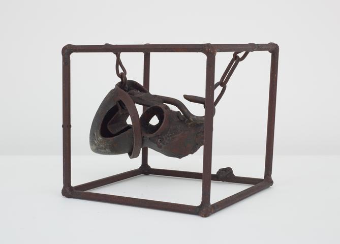 Untitled (Prototype I from Three Small Sculptures) (1965-66) Welded steel 7h x 7.5w x 6.75d in (17.8h x 19.1w x 17.1d cm)