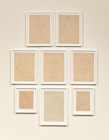 Sergei Eisenstein Untitled, n.d., installation view Colored pencil on paper, dimensions variable