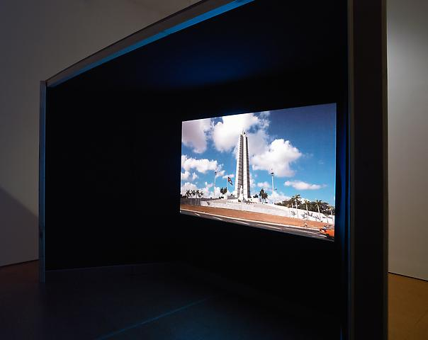 Coco Fusco The Empty Plaza / La Plaza Vacia (2012); Single-channel video with surround-sound; 00:11:52 Installation view, Alexander Gray Associates (2012)