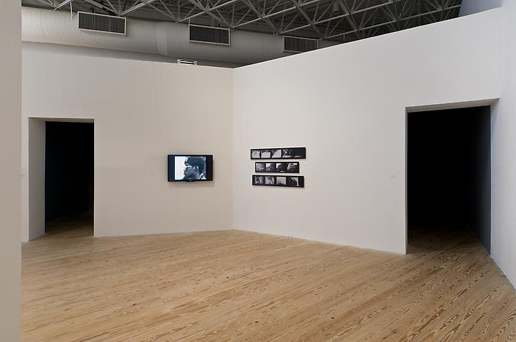Left: a/k/a Mrs. George Gilbert (2004); Right: Sightings photo series (2004) Installation view Radical Presence: Black Performance in Contemporary Art; Contemporary Arts Museum, Houston (2012)