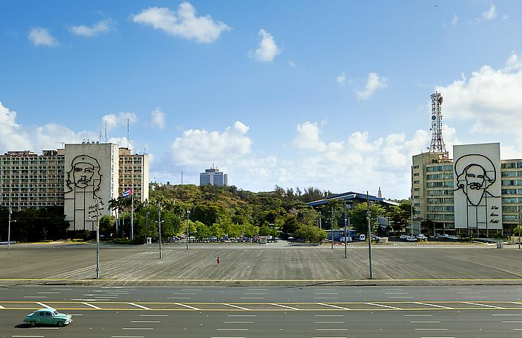 The Empty Plaza / La Plaza Vacia I (2012) Digital Chromogenic Print;  25.38h x 39.5w in (64.47h x 100.33w cm); Edition of 3 with 1 AP