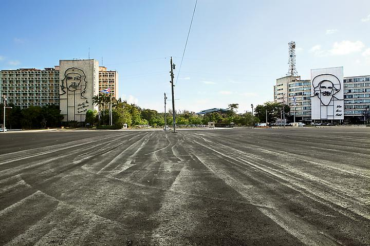The Empty Plaza / La Plaza Vacia II (2012) Digital Chromogenic Print; 26.13h x 39.5w in (66.37h x 100.33w cm); Edition of 3 with 1 AP