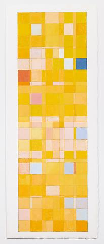 Jeremy Gilbert-Rolfe; Budapester Strasse (2012) Gouache and graphite on paper 30.25h x 12w in (76.84h x 30.48w cm)