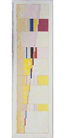 Jeremy Gilbert-Rolfe; Strasbourg (2011) Gouache and graphite on paper 30.25h x 9w in (76.84h x 22.86w cm)