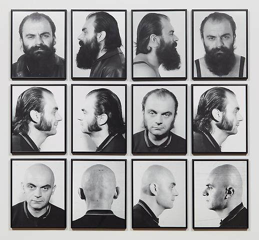 Heads (1970) Pigment prints in 12 parts; 11.8h x 9.4w in (30h x 23.9w cm) (each) Edition 1 of 5 with 1 AP