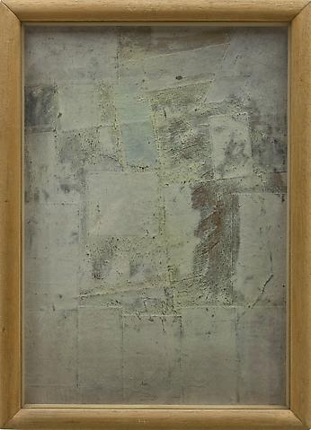 Untitled (1964) Mixed media collage 12h x 8.5w in (30.5h x 21.6w cm)