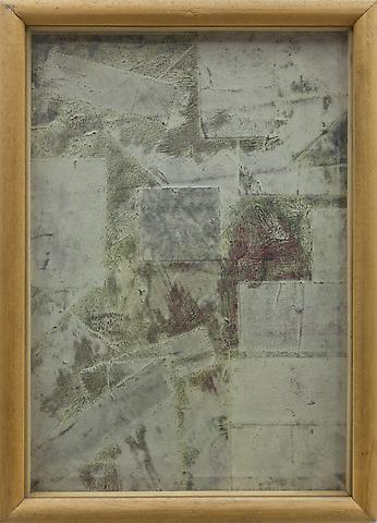 Untitled (1964) Mixed media collage 12.2h x 8.5w in (31h x 21.6w cm)