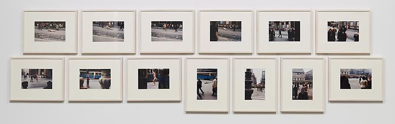 Zagreb, I love you! (1981) Chromogenic prints in 13 parts (unique) 7.9h x 11.8w in (20.1h x 30w cm) (each)