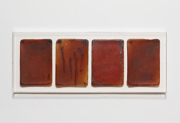 Flesh Journal #2 (1993) Acrylic on latex 11.25h x 8.75w in (28.58h x 22.23w cm)