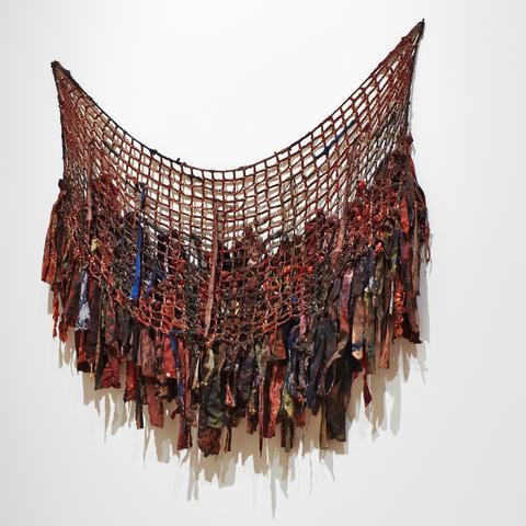 Girdle (1971) Cloth and acrylic 52.25h x 53w in (132.7h x 134.6w cm)