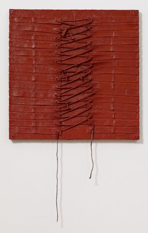 Harmony Hammond Lace I, 2012 Oil and mixed media on canvas, 36h x 36w in (91.44h x 91.44w cm)
