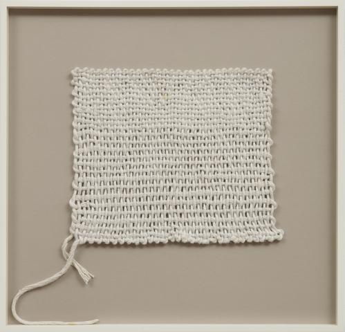 Sheila Hicks, <i>Advancing, Beginning to End</i> (1970) Linen 10h x 11.5w in (25.4h x 29.2w cm)