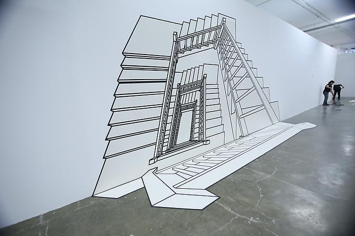 Inexplicable Staircase (White) (1999) Installation view 30x Bienal, São Paolo, Brazil (2013)