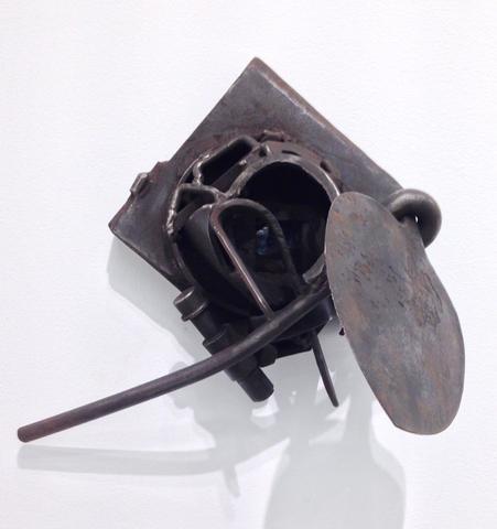 Tengenenge (1988)<br>Welded steel<br>14.5h x 15.75w x 12d in (36.83h x 40.01w x 30.48d cm)