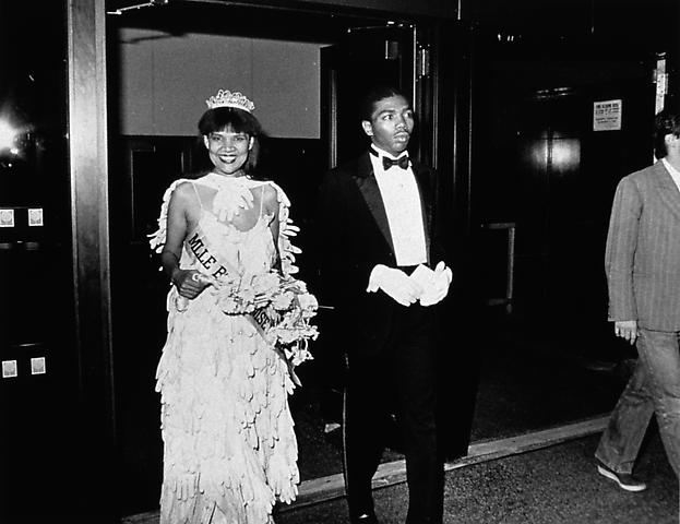 Untitled (Mlle Bourgeoise Noire and her Master of Ceremonies enter the New Museum)(1980-83/2009) Silver gelatin print; Edition of 20 with 2 AP
