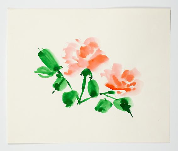 "Untitled, from the ""Florals"" series (n.d.) Watercolor on paper 14h x 17w in (35.6h x 43.2w cm)"