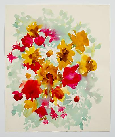 "Untitled, from the ""Florals"" series (n.d.) Watercolor on paper 17h x 14w in (43.2h x 35.6w cm)"