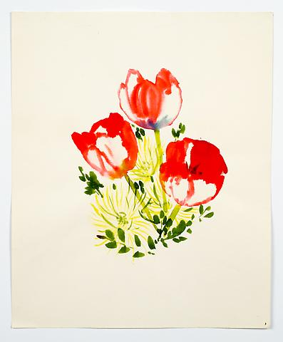 "Untitled, from the ""Florals"" series (c.1977) Watercolor on paper 17h x 14w in (43.2h x 35.6w cm)"