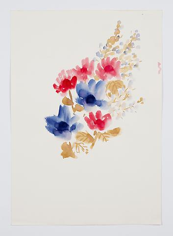 "Untitled, from the ""Florals"" series (c.1977) Watercolor on paper 17h x 12w in (43.2h x 30.5w cm)"