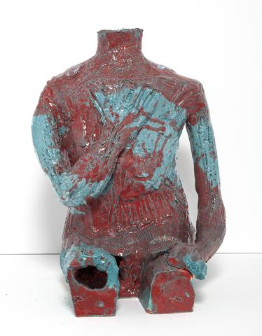 William J. O'Brien, Untitled (2015) Ceramic 20h x 15w x 15d in (50.8h x 38.1w x 38.1d cm)