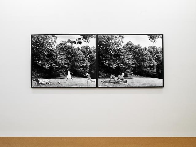 Lorraine O'Grady Body/Ground (The Clearing: or Cortez and La Malinche. Thomas Jefferson and Sally Hemings, N. and Me) (1991/2012) Installation view Alexander Gray Associates (2012)