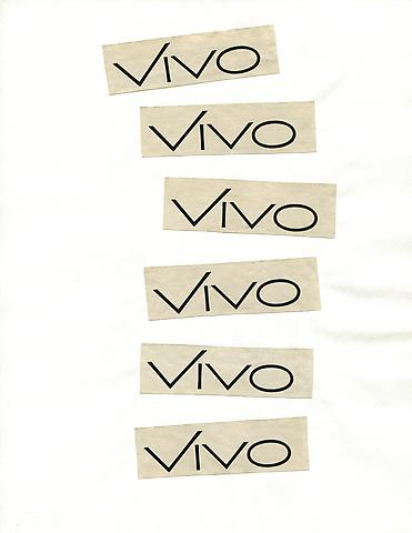 Cutting Out the New York Times, Vivo (1977) Part 2 of 3, Toner ink on adhesive label paper 84h x 20w in (213.36h x 50.8w cm)