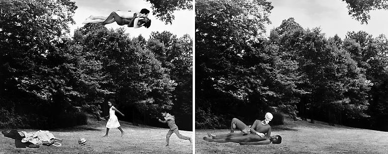 Body/Ground (The Clearing: or Cortez and La Malinche. Thomas Jefferson and Sally Hemings, N. and Me) (1991/2012) Silver gelatin print (photomontage); Diptych; 40h x 50w in (101.6h x 127w cm) (each) Edition of 8 with 1 AP
