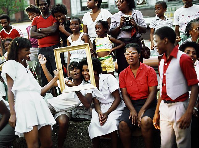 Art Is... (Women in Crowd Framed) (1983/2009) C-print 20h x 16w in (50.8h x 40.6w cm)