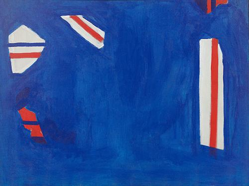 Fourth of July (1964) Acrylic on canvas 30h x 40w in (76.2h x 101.6w cm)