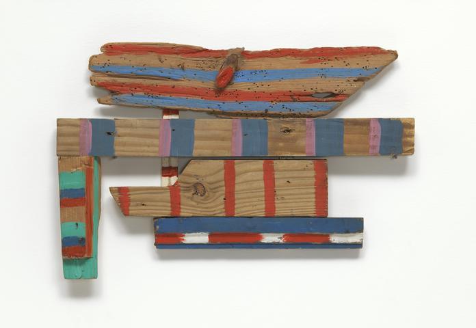 Wood-Wings (1973) Acrylic on wood 11.5h x 16.37w x .75d in (29.2 x 41.5 x 1.9 cm) Collection of Museum of Modern Art, New York