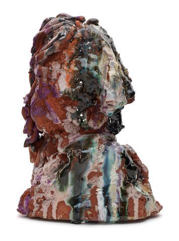 Norbert Prangenberg, <i>Kopf</i> (2012) Glazed ceramic 9h x 5w x 12d in (22.9h x 12.7w x 30.5d cm)