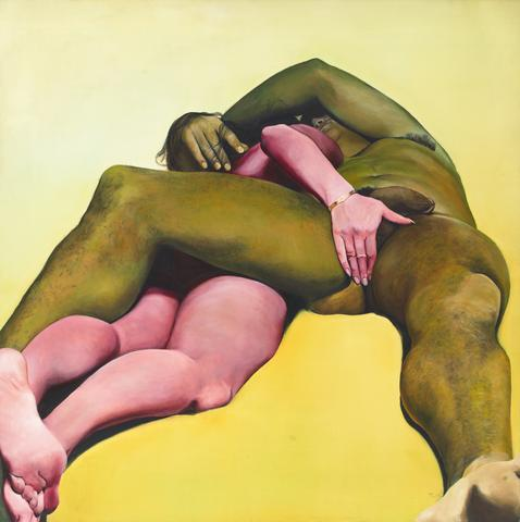 Erotic Yellow (1973) Oil on canvas 72h x 72w in. (182.88h x 182.88w cm)
