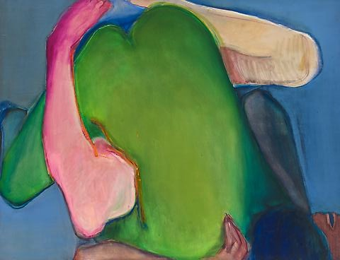 Green Heart (1971) Oil on canvas 58h x 48w in (147.32h x 121.92w cm)